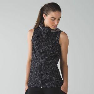 Lululemon go distance vest butterfly texture sz 2
